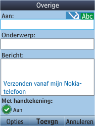 Nokia C2-05 - E-mail - E-mail versturen - Stap 6