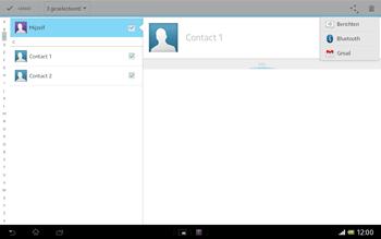 Sony SGP321 Xperia Tablet Z LTE - Contacten en data - Contacten overzetten via Bluetooth - Stap 9