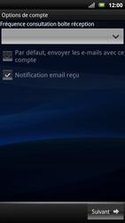 Sony Ericsson Xperia Neo - E-mail - Configurer l