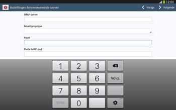 Samsung P5220 Galaxy Tab 3 10-1 LTE - E-mail - e-mail instellen: IMAP (aanbevolen) - Stap 10