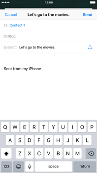 Apple iPhone 6 Plus iOS 10 - Email - Sending an email message - Step 7