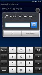 Sony Ericsson Xperia X10 - Voicemail - handmatig instellen - Stap 6