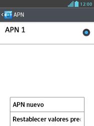 LG Optimus L3 II - Mensajería - Configurar el equipo para mensajes multimedia - Paso 8