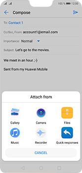 Huawei P20 Lite - Email - Sending an email message - Step 10