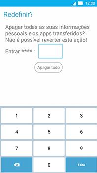 Asus Zenfone Go - Funções básicas - Como restaurar as configurações originais do seu aparelho - Etapa 9