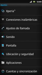 Sony Xperia U - Mensajería - Configurar el equipo para mensajes multimedia - Paso 4