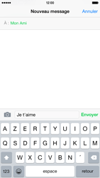 Apple iPhone 6 iOS 8 - Contact, Appels, SMS/MMS - Envoyer un SMS - Étape 8