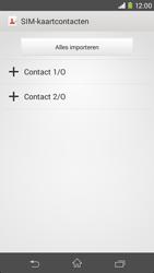 Sony Xperia M2 4G (D2303) - Contacten en data - Contacten kopiëren van SIM naar toestel - Stap 6