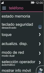 Nokia Asha 311 - Red - Seleccionar el tipo de red - Paso 4