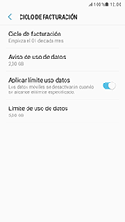 Samsung Galaxy S6 - Android Nougat - Internet - Ver uso de datos - Paso 14