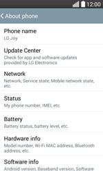 LG H220 Joy - Network - Installing software updates - Step 6