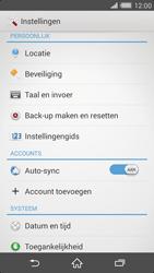 Sony Xperia Z2 4G (D6503) - Instellingen aanpassen - Fabrieksinstellingen terugzetten - Stap 4