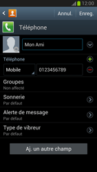 Samsung Galaxy Note 2 - Contact, Appels, SMS/MMS - Ajouter un contact - Étape 11