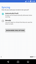 Sony Xperia X - Android Nougat - Email - Manual configuration - Step 20