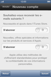 Apple iPhone 4 S - Applications - Créer un compte - Étape 12