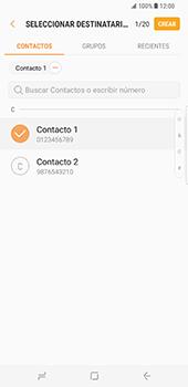 Samsung Galaxy S8 Plus - Mensajería - Escribir y enviar un mensaje multimedia - Paso 7