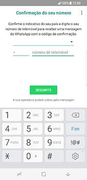 Samsung Galaxy S8 - Aplicações - Como configurar o WhatsApp -  9