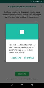 Huawei P Smart - Aplicações - Como configurar o WhatsApp -  11