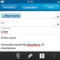 BlackBerry Q5 - E-mail - Hoe te versturen - Stap 11