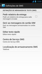 Wiko Darkmoon - SMS - Como configurar o centro de mensagens -  7