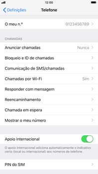 Apple iPhone 8 Plus - iOS 12 - Segurança - Como ativar o código PIN do cartão de telemóvel -  4