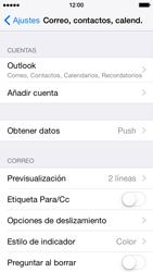 Apple iPhone 6 iOS 8 - E-mail - Configurar Outlook.com - Paso 9