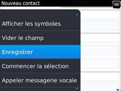 BlackBerry 9720 - Contact, Appels, SMS/MMS - Ajouter un contact - Étape 8