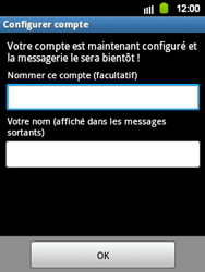 Samsung S5360 Galaxy Y - E-mail - Configuration manuelle - Étape 13