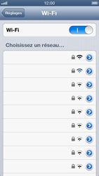 Apple iPhone 5 - Wifi - configuration manuelle - Étape 6