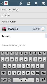 Samsung Galaxy Note 3 - E-mail - Escribir y enviar un correo electrónico - Paso 18