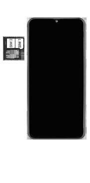 Samsung Galaxy A40 - Appareil - comment insérer une carte SIM - Étape 5