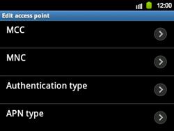 Samsung B5510 Galaxy TXT - MMS - Manual configuration - Step 12