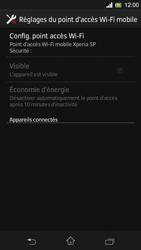 Sony Xpéria SP - Internet et connexion - Partager votre connexion en Wi-Fi - Étape 7