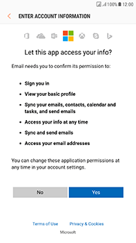 Samsung Galaxy J7 (2017) - E-mail - Manual configuration (outlook) - Step 8