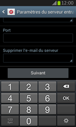 Samsung S7710 Galaxy Xcover 2 - E-mail - Configuration manuelle - Étape 10