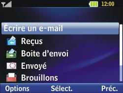 LG C320 InTouch Lady - E-mail - Configuration manuelle - Étape 11