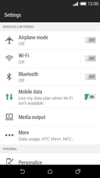 HTC Desire 610 - Internet - Enable or disable - Step 4