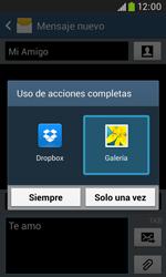 Samsung S7580 Galaxy Trend Plus - Mensajería - Escribir y enviar un mensaje multimedia - Paso 16