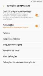 Samsung Galaxy A5 (2016) - Android Nougat - SMS - Como configurar o centro de mensagens -  6