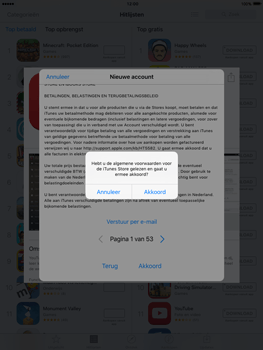 Apple iPad 3 iOS 9 - Applicaties - Account aanmaken - Stap 11