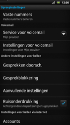Sony LT22i Xperia P - Voicemail - handmatig instellen - Stap 5