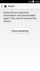 Huawei Ascend Y625 - Device - Factory reset - Step 8