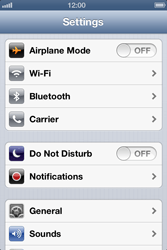 Apple iPhone 4 S iOS 6 - Network - Usage across the border - Step 3