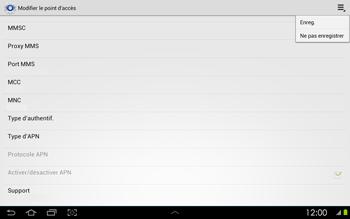 Samsung P5100 Galaxy Tab 2 10-1 - Internet - configuration manuelle - Étape 15