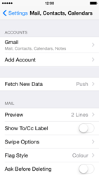 Apple iPhone 5s - iOS 8 - E-mail - Manual configuration (gmail) - Step 10
