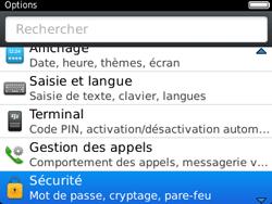 BlackBerry 9320 - Sécuriser votre mobile - Activer le code de verrouillage - Étape 4