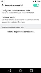 LG X Power - Wi-Fi - Como usar seu aparelho como um roteador de rede wi-fi - Etapa 10