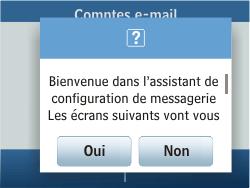 Samsung C3500 Chat 350 - E-mail - Configurer l