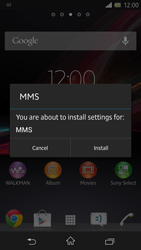 Sony C6603 Xperia Z - MMS - Automatic configuration - Step 5