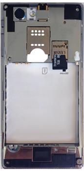 Sony Xperia J - Primeros pasos - Quitar y colocar la batería - Paso 5
